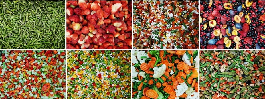 Frozen Fruits & Vegetables produced in Egypt