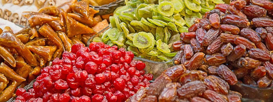 Dried fruits produced in Egypt