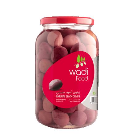 Wadi Food  Natural Black Olives Jar by Wadi Food - 1K