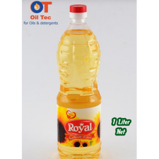 Royal Sunflower Oil Made in Egypt by Oil Tec - 1 Litter Cylindrical