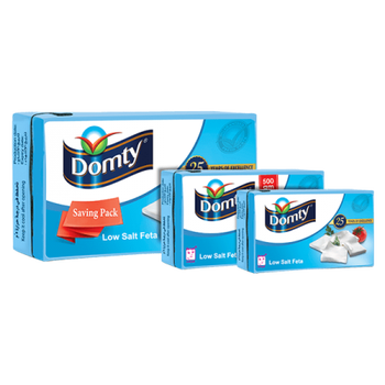 Low Salt Feta Cheese Made in Egypt by Dompty