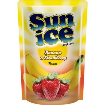 Sunice Strawberry & Banana Juice by El Rabie Made In Egypt