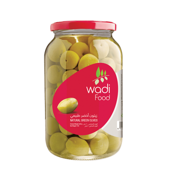 Wadi Food Natural Green Olives by Wadi Food -1kg