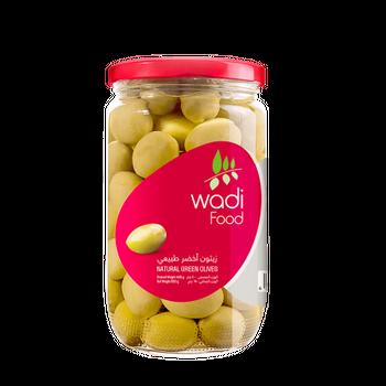 Wadi Food Natural Green Olives by Wadi Food - 650gm
