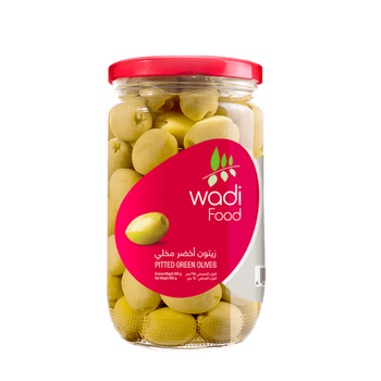 Wadi Food Pitted Green Olives by Wadi Food - 650gm