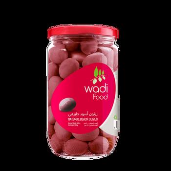 Wadi Food Natural Black Olives by Wadi Food - 650gm