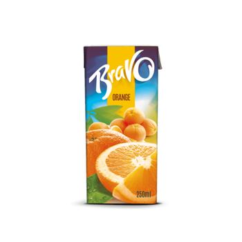 Bravo Orange Juice Made in Egypt by Domty