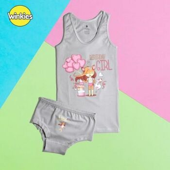Set Of Top Laycra & Panty Printed 100% Cotton Made in Egypt