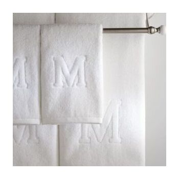 White towels with logo by Hellen's Group