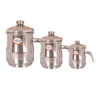 Milk Pot Sets Aluminum silver by Elomda