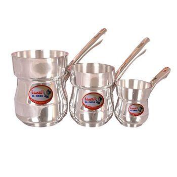 Set of Aluminium Coffee Pots 3 Pieces