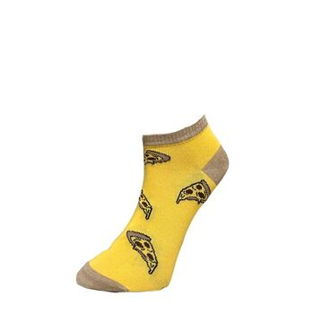 Doodle pizza Ankle Socks by Senior Gabr