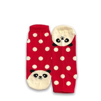 Panda and dots Ankle socks by Senior Gabr