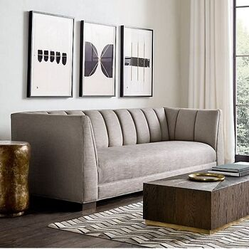 Linen Living Room by Furniture Ideal