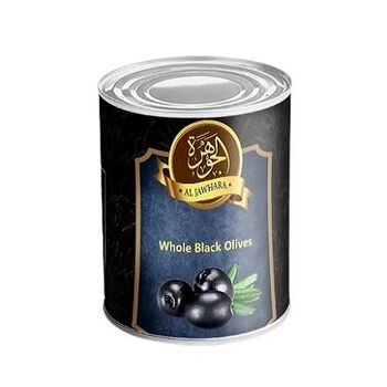 Al Jawhara whole Black Olives by Two Brothers Co.