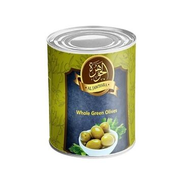 Al Jawhara whole Green Olives by Two Brothers Co.