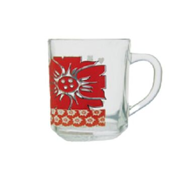 Royal Glass Punto Tea Mugs by Techno Glass