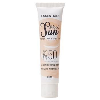 """Sun Block SPF 50 PA+++ """"Protection and Moisture"""" by Essentials"""